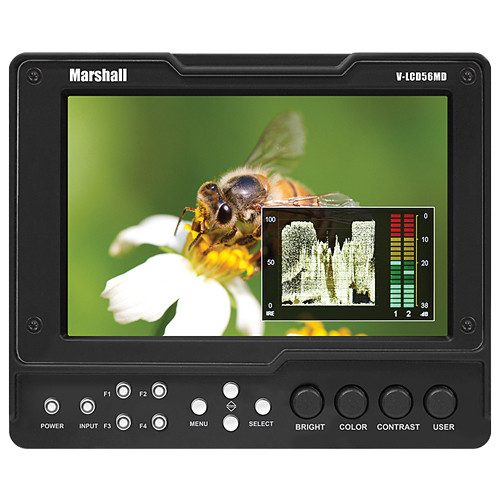 HDMI Input / Output 1280x800 Resolution / 300 Nit Brightness Icon-Driven Menu / 4 Assignable Buttons DSLR Ratio Adjustment with 4 Presets 2-Bar Waveform / Stereo / Headphone Out 4-Color Peaking / Adjustable Clip Guide Manual Gamma Adjustment RGB Check Field / Field Detect 15:9 / 16:9 / 4:3 / Pixel-to-Pixel Modes Polycarbonate Screen Protection